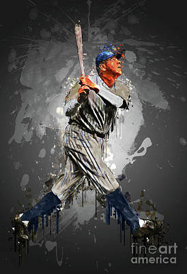 Babe Ruth Digital Art - The Bambino by Edelberto Cabrera