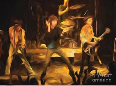 Painting - The Band Playing by Steven Parker