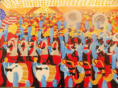 Painting - The Band by Rodger Ellingson