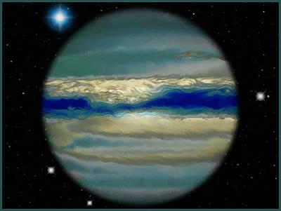 Painter Mixed Media - The Bands Of Jupiter by Mario Carini
