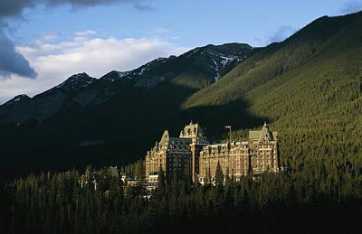 The Banff Springs Hotel, Nestled In An Art Print