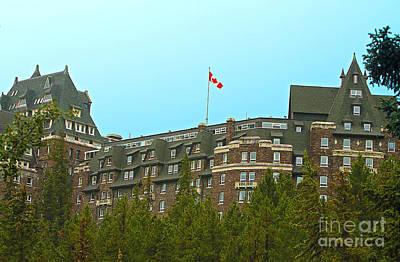 Photograph - The Banff Springs Hotel by Nina Silver