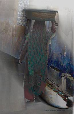 Emotion Mixed Media - The Bangles Seller by Lenore Senior and Bobby Dar