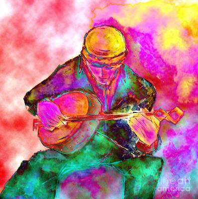 The Banjo Player Art Print
