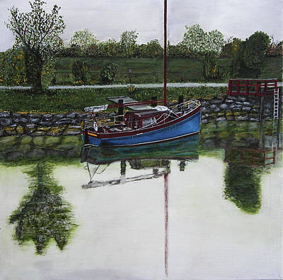 Charente Maritime Painting - The Bank by Kapy Art