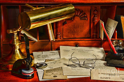 Cpa Photograph - The Bankers Desk by Paul Ward