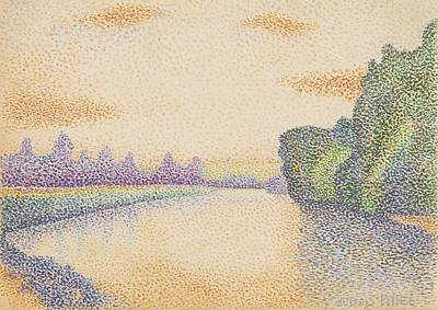 Dubois Painting - The Banks Of The Marne At Dawn, C. 1888. Dubois-pillet by Celestial Images