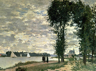 River Walk Painting - The Banks Of The Seine At Argenteuil by Claude Monet
