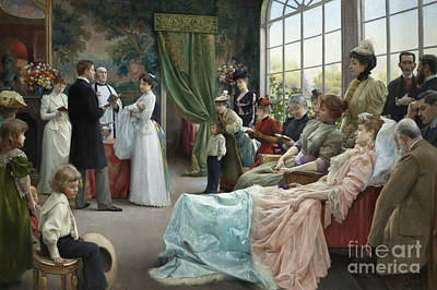 Baptism Painting - The Baptism, 1892 by Julius Leblanc Stewart