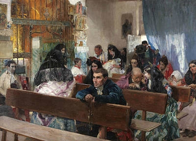 Baptism Painting - The Baptism by Joaquin Sorolla