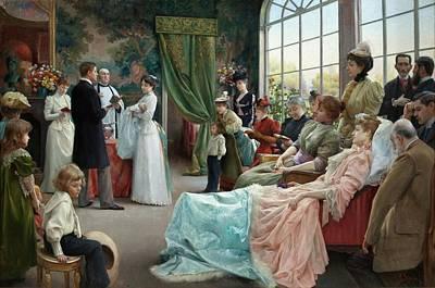 Baptism Painting - The Baptism by Julius Leblanc