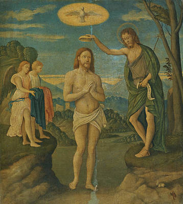 Painting - The Baptism Of Christ by Girolamo da Santacroce