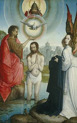 0 Painting - The Baptism Of Christ by Juan De Flandes