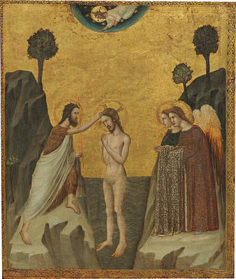Painting - The Baptism Of Christ by Master of the Life of Saint John the Baptist