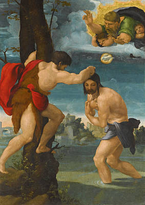 Painting - The Baptism Of Christ by Pedro Machuca