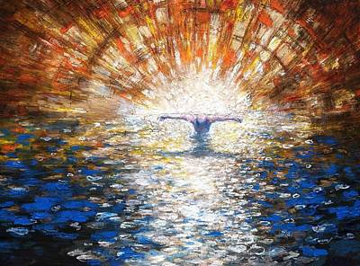 Painting - The Baptism Of The Christ II by Daniel Bonnell