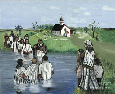 Baptizing Painting - The Baptism by Toni  Thorne
