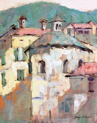 Lake Como Painting - The Baptisterie by Georgia  Mansur