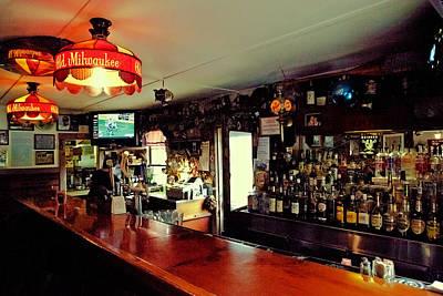 Glass Photograph - The Bar At Drake's Inn by David Patterson