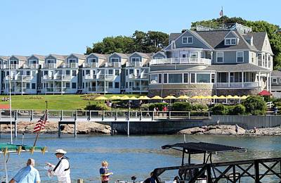 Photograph - The Bar Harbor Inn by Living Color Photography Lorraine Lynch