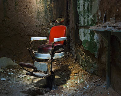The Barber Chair Art Print by Eric Harbaugh