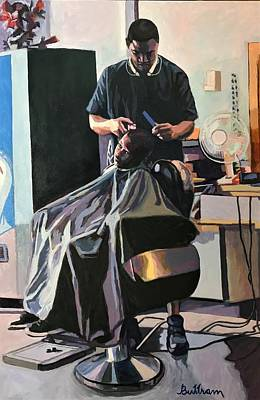Painting - The Barber by David Buttram