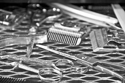 The Barber Shop 10 Bw Art Print by Angelina Vick