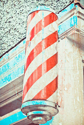Nostalgic Sign Photograph - The Barber by Tom Gowanlock