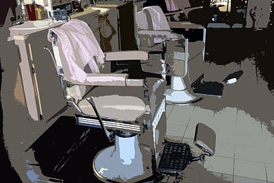 The Barber's Chairs Art Print