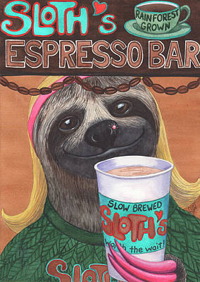 The Barista Art Print by Catherine G McElroy