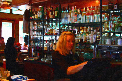Hangouts Photograph - The Barmaid by Wingsdomain Art and Photography