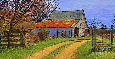 Photograph - The Barn 16518 by Ray Shrewsberry