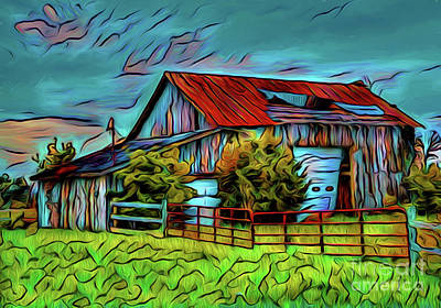 Photograph - The Barn 19618 by Ray Shrewsberry