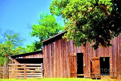 Photograph - The Barn And Corral 12718 by Ray Shrewsberry