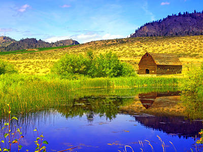 Distant Trees Photograph - The Barn And The Pond by Tara Turner