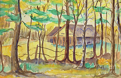 Painting - The Barn by Art MacKay