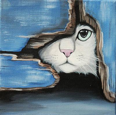 The Barn Cat Original by Lauren Hammack