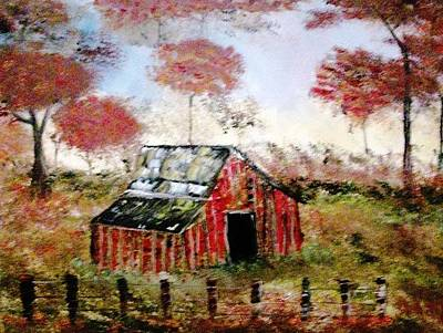 Painting - The Barn by Debbie