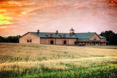 Clydesdale Photograph - The Barn II by Everet Regal
