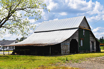 Photograph - The Barn In Spring by Linda Brown