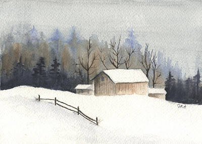 Painting - The Barn by Jan Anderson
