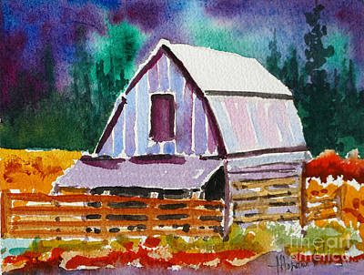 Old Barn Painting - The Barn by Mohamed Hirji