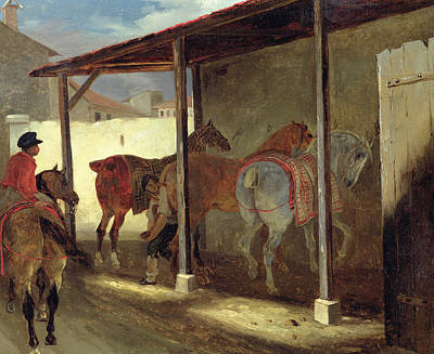 Stalls Painting - The Barn Of Marechal-ferrant by Theodore Gericault