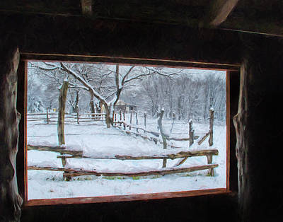 Photograph - The Barn Window by David and Carol Kelly
