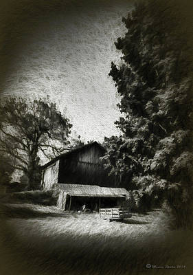 Overhang Photograph - The Barn Yard Wagon by Marvin Spates