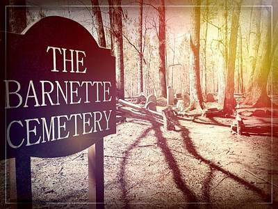 Photograph - The Barnette Cemetery At Croft State Park by Kelly Hazel