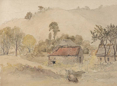 Painting - The Barns by Samuel Palmer