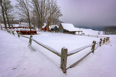 Photograph - The Barnyard At Jenne Farm by Rick Berk