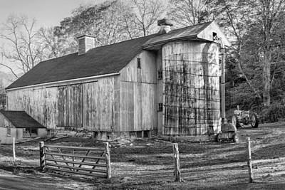 Vintage Barns Photograph - The Barnyard by Bill Wakeley