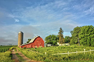 Photograph - The Barnyard by Bonfire Photography